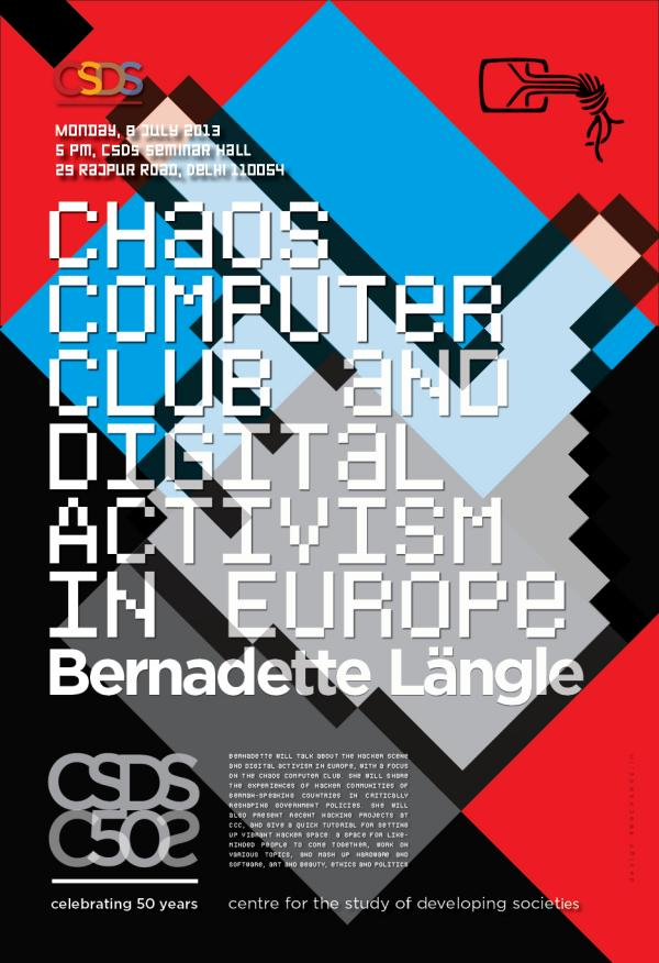 Sarai - Bernadette Langle - CCC and Digital Activism in Europe - Poster