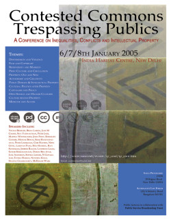 sarai - contested commons trespassing publics - poster