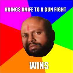 kala shetty knife meme
